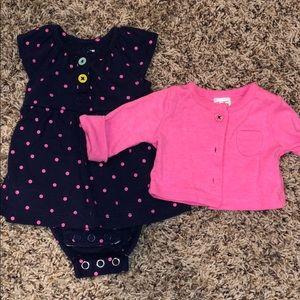 Carters Dress & Cardigan